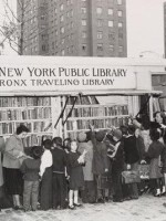 Передвижная библиотека в Бронксе, Нью-Йорк — 50-е г.г. ХХ века