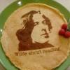 Оскар Уайлд приветствует любителей почитать за едой