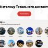 Открыто голосование за столицу «Тотального диктанта-2019»