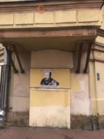 В Петербурге появились новые граффити с Достоевским
