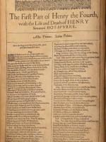 На аукцион выставили фрагмент Первого фолио Шекспира с пьесой «Генрих IV»