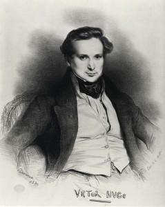 Виктор Гюго - портрет с автографом