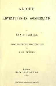 Алиса в стране чудес первое издание 1865