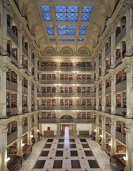 Библиотека Джорджа Пибоди, Балтимор (США)