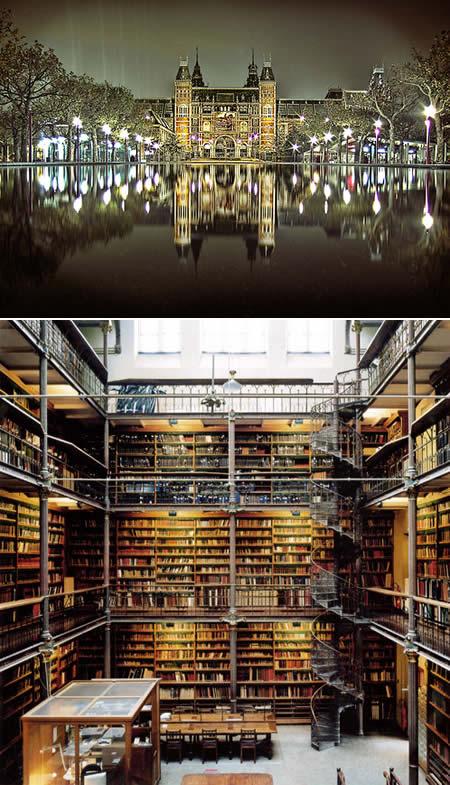 Библиотека Rijkmuseum, Амстердам, Голландия