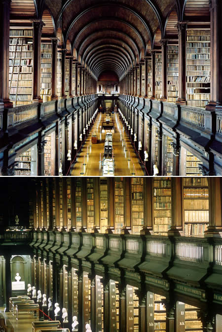 Библиотека Тринити колледжа, Дублин, Ирландия