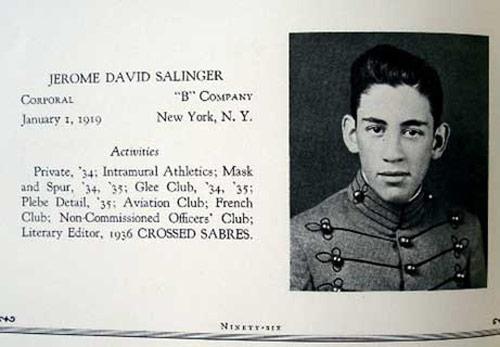 Джером Сэлинджер в военной академии, 1936 год