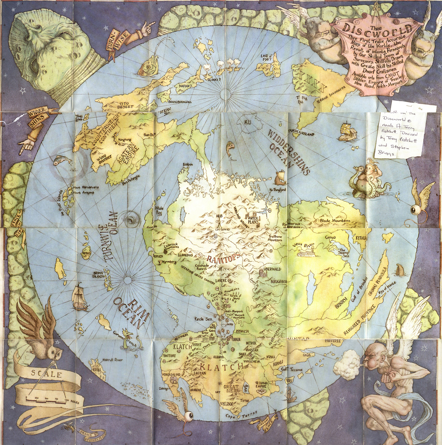 Общая карта Плоского Мира