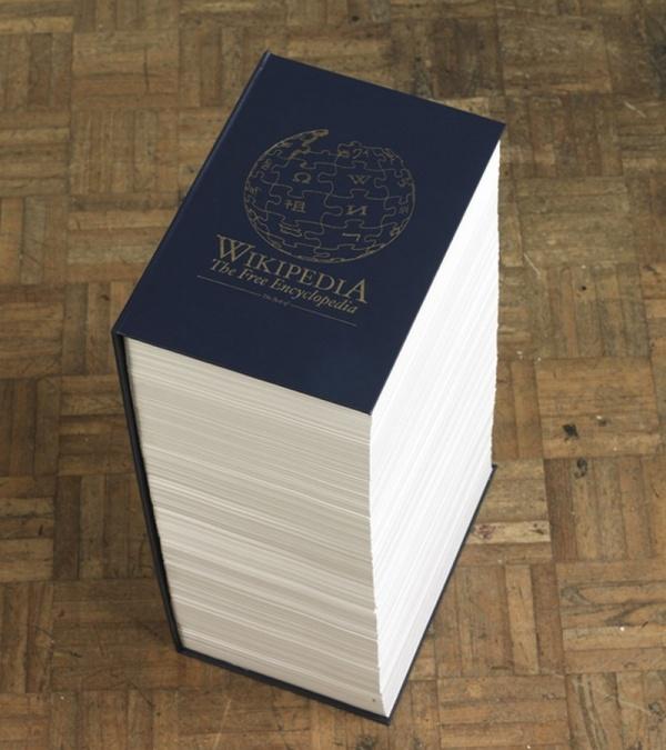 википедия в бумаге от Роба Мэттьюса
