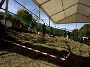 Раскопки предположительного захоронения Федерико Гарсиа Лорки