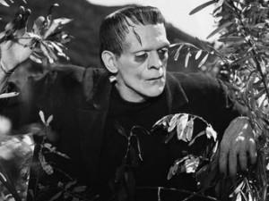 Борис Карлофф в роли чудовища Франкенштейна, 1931 г.
