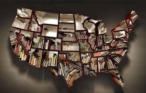 книжная полка - карта США