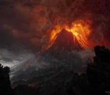 """новозеландский вулкан """"в роли"""" Роковой горы Ородруин"""