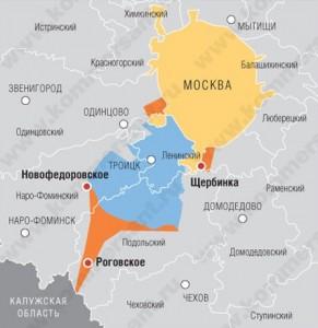 """""""Новая Москва"""" - карта"""