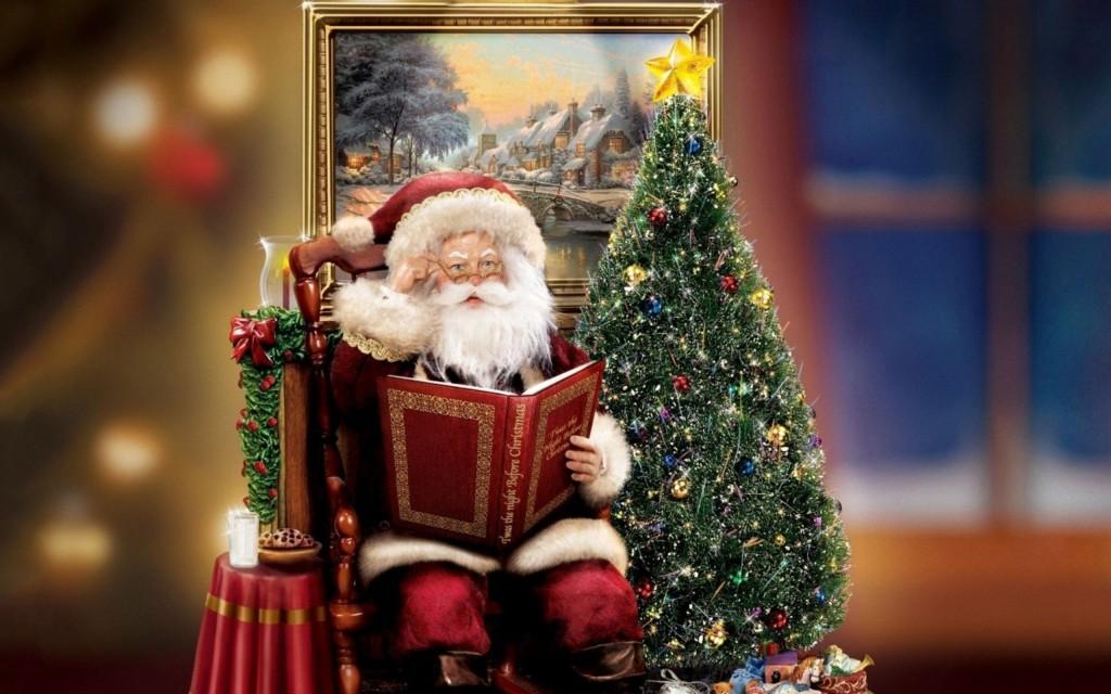 Прикольная, новогодняя открытка с книгой