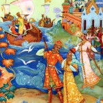 князь Гвидон встречает флот царя Салтана