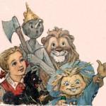 персонажи Волкова - Элли с Тотошкой, Страшила, Железный Дровосек и Смелый Лев