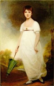 портрет Джейн Остин в 13 лет