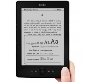 Amazon kindle e ink
