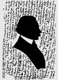 Николай Гоголь - силуэтный портрет