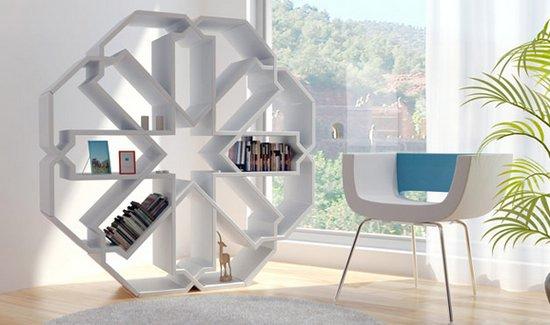 книжный шкаф-снежинка