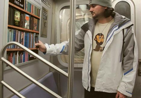 так работает проект The Underground Library в Нью-Йорке