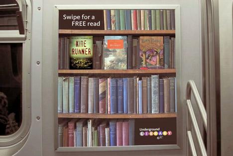Underground Library - книга на полке...