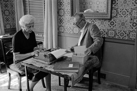 Владимир Набоков с женой