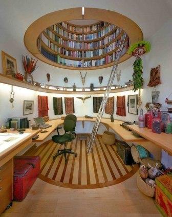 круглая библиотека над головой