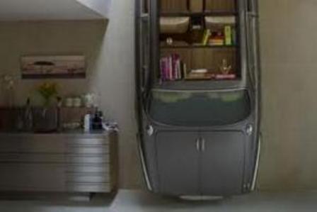 """книжный шкаф из старого """"Ягуара"""""""