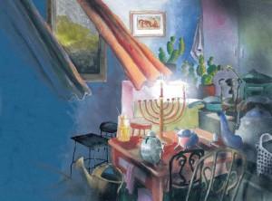 """иллюстрация к книге Натана Альтермана """"Это случилось в Хануку"""""""
