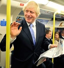 Борис Джонсон - мэр Лондона в метро