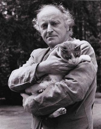 Иосиф Бродский с котиком