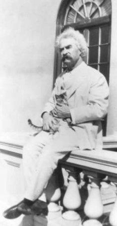 Марк Твен с котиком