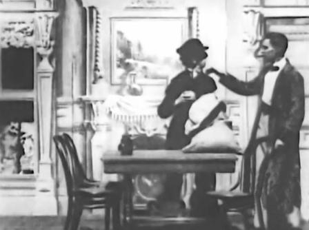 """""""Озадаченный Шерлок Холмс"""" - немое кино, 1900 г., США"""