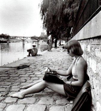 Париж 1947 г. набережная Сены