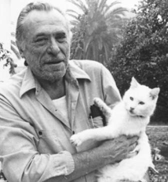 Чарльз Буковски с котиком
