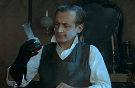любимые химические опыты Холмса в исполнении Василия Ливанова