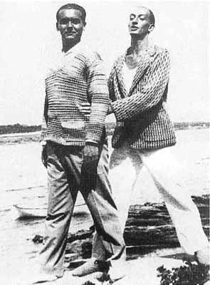 Сальвадор Дали и Федерико Гарсиа Лорка в Порт-Льигате - 1927 г.
