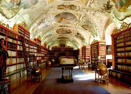 библиотека в Страховском монастыре Праги
