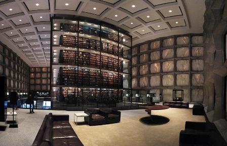 библиотека редких книг Йельского Университета - Коннектикут США