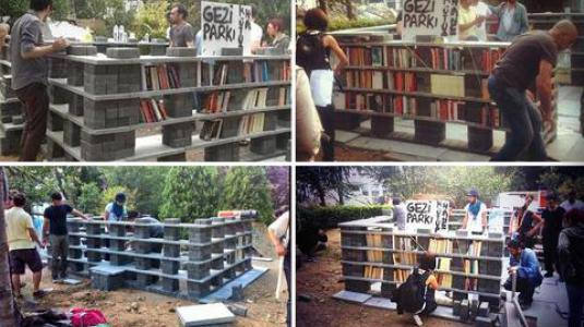 в парке - библиотека своими руками