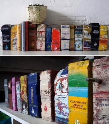 кирпично-книжный дизайн