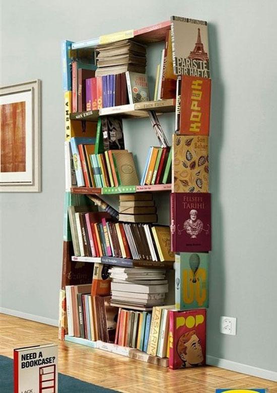 книжный шкаф из книг