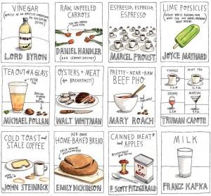 любимые напитки и блюда писателей