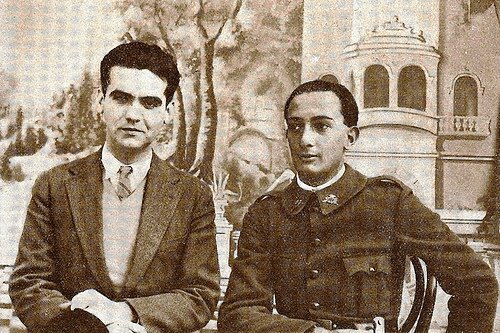 молодые Федерико Гарсиа Лорка и Сальвадор Дали
