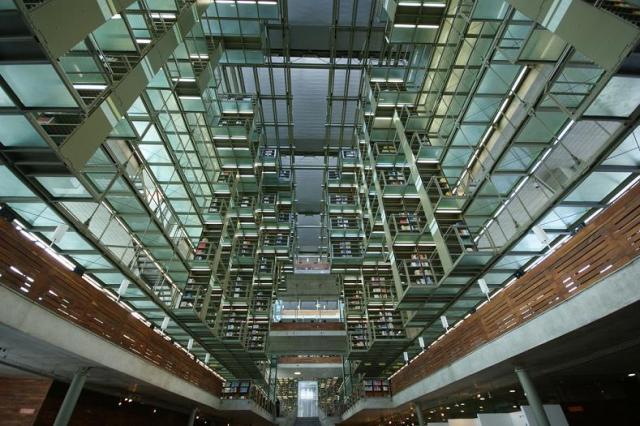 невероятные залы библиотеки Хосе Васконселоса