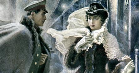 Анна Каренина и Вронский - иллюстрация к книге