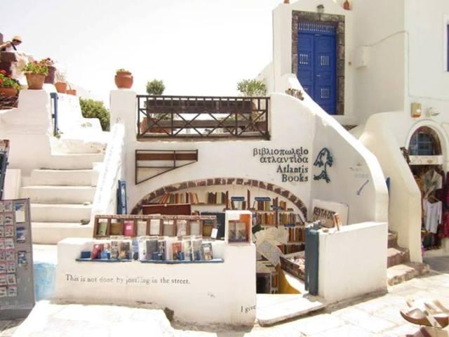 книжный магазин в греческом городе Ойя
