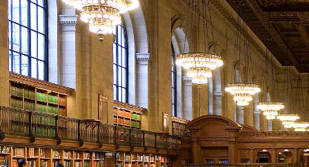 освещение нью-йоркской библиотеки
